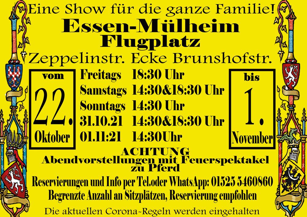 Grosses Ritterturnier in Mülheim a.d.Ruhr - Flugplatz